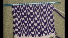 Crochet tunecino punto holas del mar. - YouTube