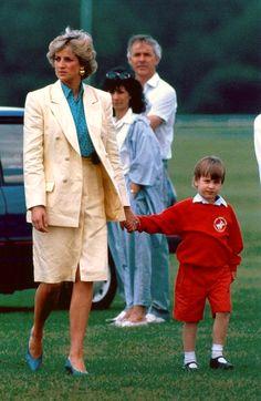 Princess Diana and Prince William.