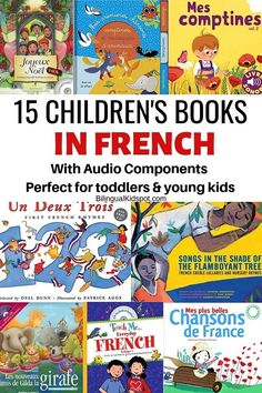 A list of French books for kids with audio, perfect for toddlers and young children. Learn French with books and music! French Flashcards, Flashcards For Kids, Music Flashcards, Read In French, Learn French, Belle French, Toddler Books, Childrens Books, French Articles