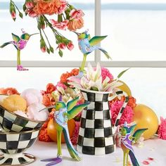 Decorate for spring with our perky and bright hummingbird family of Heek, Hilde, - Summer Drinks, Summer Salads, Summer Activities, Summer Nails, Hummingbird, Summertime, Bright, Photo And Video, Table Decorations