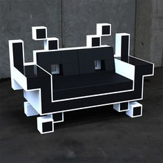 Space Invaders Couch (5 pics) - My Modern Metropolis