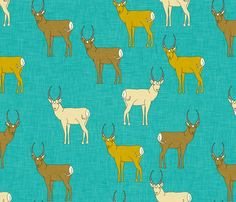 Pronghorn wallpaper - Spoonflower