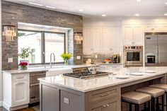 Traditional Gray and White Kitchen in Cheshire, CT | The Kitchen Company