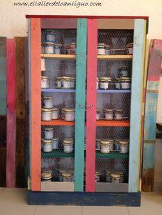 Alacena con Palets - www.eltallerdeloantiguo.com