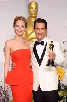 Jennifer and Matthew #Oscars