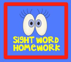 Sight word homework program  $