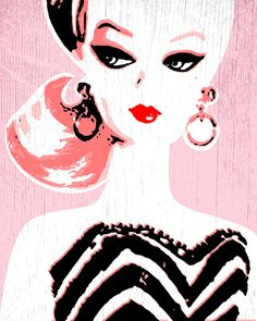 Barbie 11 x 14 print by giggleboxdesign on Etsy, $50.00