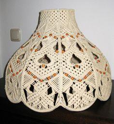 makramee | Lampenschirm, Stehlampe, Makramee, Patchwork, Papier, Nähen, Stricken ...