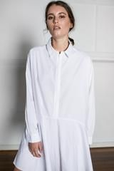 BOBBY SHIRT DRESS - WHITE | Nice Martin
