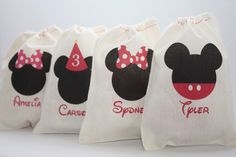 Mickey & Minnie Inspired Favor Bags-Mickey & Minnie favor bags