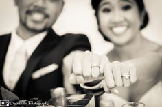 Donnacille Photography - Bride & Groom showing off their new rings.