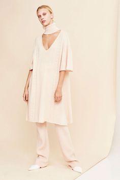 Ryan Roche - Nude Tie Turtleneck Knit Dress | BONA DRAG