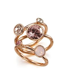 Jewel clustered ring - Rose Gold | Jewelry & Watches | Ted Baker