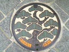 Manhole Cover Art Kitakata city