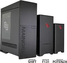 Love how the Maingear family of computers follows similar design throughout line. No mistaking these for anyone else's boxes!