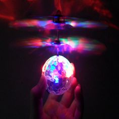Colorful Flying RC Novelty Toy RC Flying Ball Drone Helicopter Ball Built-in Shinning LED Lighting Anti-stress