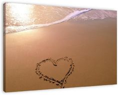 Love the Beach op canvas, dibond of (ingelijste) poster print.