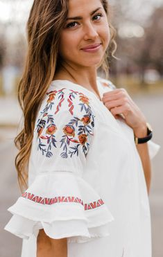 Camelot Embroidered Dress