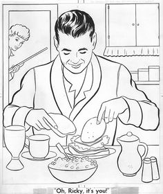 Roy lichtenstein woman in bath drawing lessons daddy for I love lucy coloring pages
