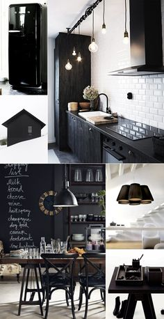 60 Inspiring Black and White Traditional and Modern Dining Room Decor Black Kitchen Black Decor dining Inspiring Modern Room traditional White Interior Design Kitchen, Interior Design Living Room, Luxury Dining Room, Dining Rooms, Black Kitchens, Kitchen Black, Black Decor, Modern Room, Contemporary Decor