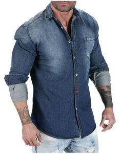 ΑΝΔΡΙΚΑ ΡΟΥΧΑ :: Πουκάμισα :: Πουκάμισο Spotted Jean - OEM Denim Button Up, Button Up Shirts, Tops, Fashion, Moda, Fashion Styles, Fashion Illustrations