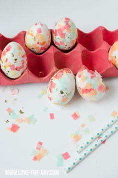 DIY Confetti Easter Eggs by Love The Day