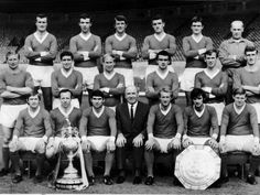 Manchester United, league champions 1966/67... Busby rebuilt the team through the 1960s by signing players such as Denis Law and Pat Crerand, who combined with the next generation of youth players – including George Best – to win the FA Cup in 1963. The following season, they finished second in the league, then won the title in 1965 and 1967.Matt Busby resigned as manager in 1969 and was replaced by the reserve team coach, former Manchester United player Wilf McGuinness