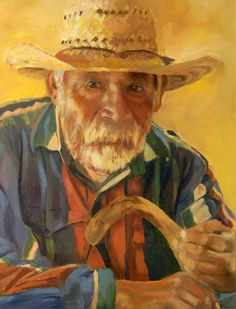 An elderly Mexican gentleman with whom we shared our lunch. I needed to try and capture his character. Jeanne Aten