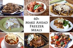 Get ready for fall with this collection of Make-Ahead Freezer Meals!