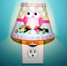 Owls Love Birdies Girl Nature Forest Woodland NIGHT LIGHT for Girls Bedroom Baby Nursery on Etsy, $25.00