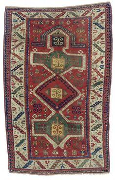 Caucasian Kazak rug, 1900
