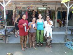 Bali 2011 Sanur Beach. The ladies from the shops.