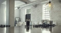 White Washed Exposed Brick Wall