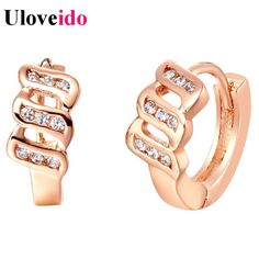 Find More Stud Earrings Information about Rose Gold Plated Earrings for Women Sterling Silver Jewelry Crystal Earring Bijoux Rhinestone Earings Brincos Sale Uloveido R314,High Quality earrings frog,China earrings leaf Suppliers, Cheap earring vintage from Uloveido Official Store on Aliexpress.com