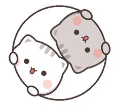 LINE Stickers Cutie Cat-Chan Jimao,Cutie Cat-Chan coming with her boyfriend back this time!,Stickers,Animated Stickers,Example with GIF Animation Cute Bear Drawings, Cute Animal Drawings Kawaii, Cute Kawaii Animals, Kawaii Cat, Cute Anime Cat, Cute Cat Gif, Cute Love Pictures, Cute Love Gif, Cute Cartoon Pictures