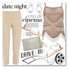 """""""Summer Date: The Drive-In"""" by andrejae ❤ liked on Polyvore featuring CENA, Miss Selfridge, Piazza Sempione, K. Jacques, DateNight, drivein and summerdate"""