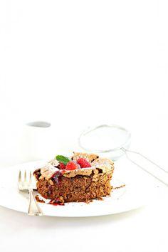 Flourless Chocolate Cake with Boozy Berry Sauce
