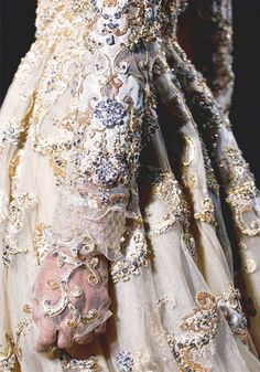Detail of a Valentino Haute Couture dress