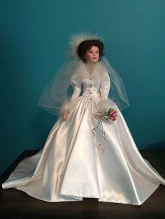 """Ashton-Drake - She Walks in Beauty """"Winter Romance"""" Bride 20"""" Porcelain Doll"""