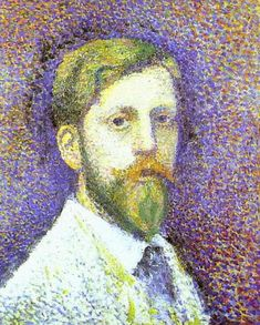 Self-Portrait, 1890 - Georges Lemmen - by style - Pointillism