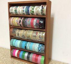 hold 60 rolls Washi Tape Holder wood case Tape от shekphoebe