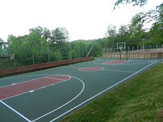 Beautiful outdoor Basketball Court and Hockey Rink at Camp Southwoods in Paradox, NY!