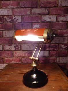 Piano Lamps, Desk Lamp, Table Lamp, Bankers Lamp, Solid Brass, Harley Davidson, Lighting, Vintage, Home Decor