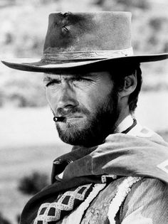 """""""Clint Eastwood as """"The Man with No Name"""" in Sergio Leone's """"Dollars Trilogy."""