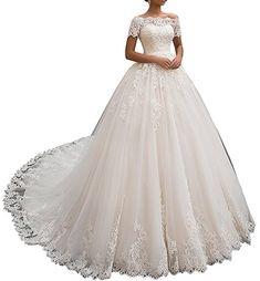 6d93bb5c17ecba Tianshikeer Hochzeitskleider Damen Prinzessin Spitze Tüll A-Linie Lang  Brautkleider Lange Tailing - hochzeitskleid hochzeitskleider
