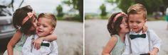 Ashley Taylor's Rustic Farm Wedding Part One, Lawrence, KS Wedding Photographers » Gracenote Photography flower girl, adorable, ring bearer, sweet, bow tie, suspenders, headband, kiss