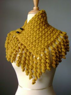 knit and crochet.  fringe can be knitted to look like this.  cast on knit 2 rows and bind off