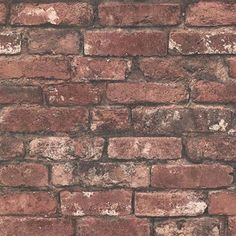 Beacon House by Brewster Oxford Brickwork Rust Exposed Brick Wallpaper Brick Wallpaper Samples, Exposed Brick Wallpaper, Brick Effect Wallpaper, Tile Wallpaper, Exposed Brick Walls, Embossed Wallpaper, Textured Wallpaper, Paper Wallpaper, Wallpaper Backgrounds