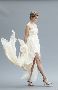 The exquisite Athena, a signature Elika In Love.  Shop the look: www.elikainlove.com  This luxurious silk chiffon wedding gown was created for an elegant bride looking for a captivating gown that is fresh, modern, and romantic. Chiffon Wedding Gowns, Wedding Dresses, Elegant Bride, Bride Look, Silk Chiffon, One Shoulder Wedding Dress, Romantic, Luxury, Shopping