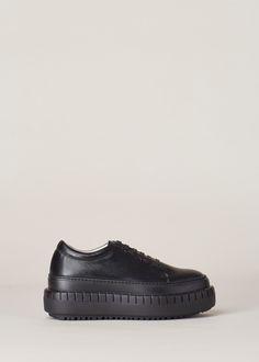 Acne Studios Saddy Platform Sneaker (Black)